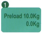 Press a 10 Kg preliminary load